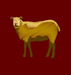 flat shading style icon sheep vector image