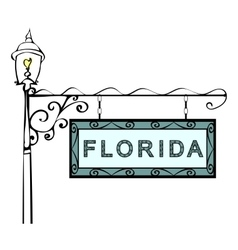 Florida retro pointer lamppost vector