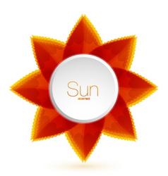 Flower sun vector