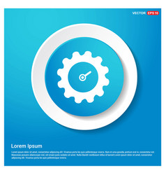 gear icon abstract blue web sticker button vector image