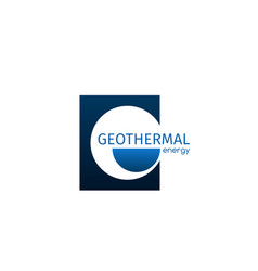 geothermal energy icon vector image