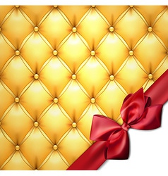Golden upholstery leather pattern background vector image