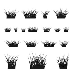Grass bushes set vector
