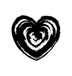Grunge heart symbol sign Design element vector image