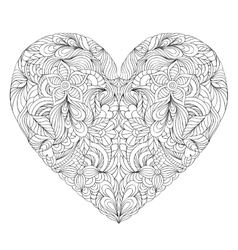 Heart on white background vector