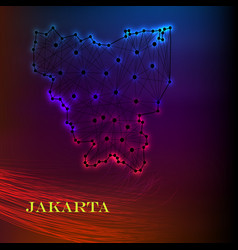 high quality map of jakarta is a city of vector image