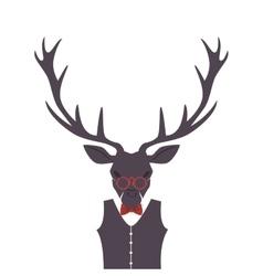 hipster style reindeer frame vector image