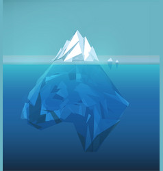 iceberg polygonal sea ice berg vector image
