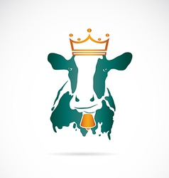 Image cow wearing a crown vector