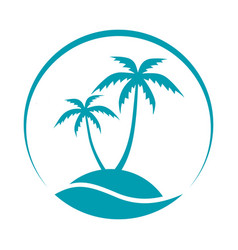 island sign vector image