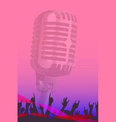 Karaoke night audience poster vector