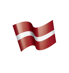 latvia flag on a white vector image