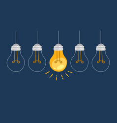light bulb symbol innovation and good ideas vector image