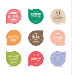 modern badges and labels collection 5 vector image