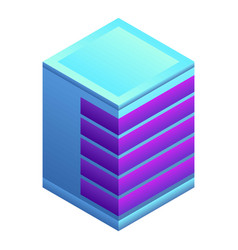 modern building icon isometric style vector image