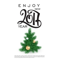 New 2017 year greetings poster with hand vector