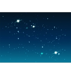 Night starry sky Stars and space vector image
