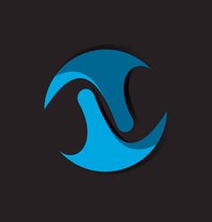 orbit logo design template vector image