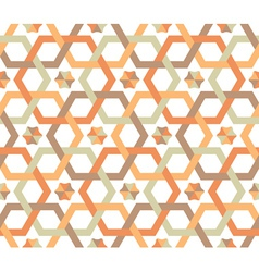 overlapping hexagons - seamless pattern vector image