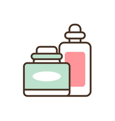 Pair of cosmetic products vector