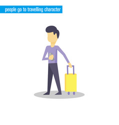 people go to travelling character vector image