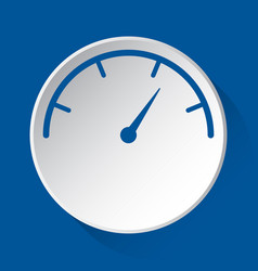 Pressure gauge simple blue icon on white button vector