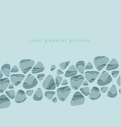 River pebbles hand drawn color vector