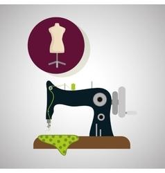 Sewing designtextile icon tailor shop concept vector image