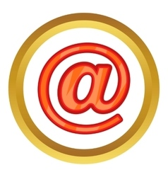 Sign e-mail icon vector