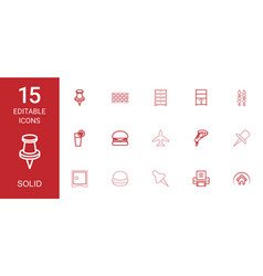 solid icons vector image