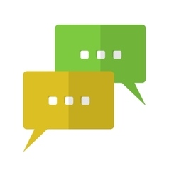 Speech bubbles flat icon vector
