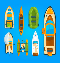 Speed motor boat sea ship yacht and other marine vector