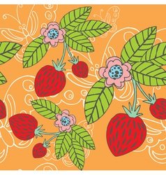 strawberry butterfly vector image