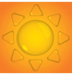 Sun of water drop vector