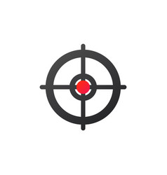 target aim scope icon isolated on white background vector image
