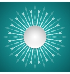 template of paper round fram vector image