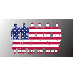 usa soccer team flag design russia wallpaper sport vector image