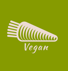 vegan or vegetarian badge vector image