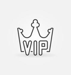 Vip crown linear icon or logo vector