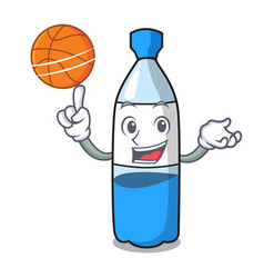 with basketball water bottle character cartoon vector image