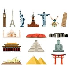 World landmarks Famous world landmarks vector