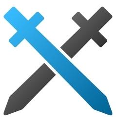 Crossing swords gradient icon vector