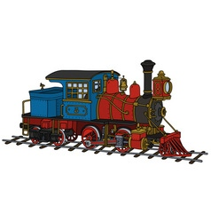 Funny old american steam locomotive vector image vector image