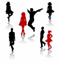 irish dance vector image