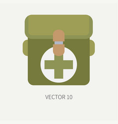 line tile color hunt and camping icon first vector image vector image