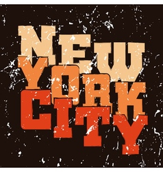 T shirt typography graphics New York vector image vector image
