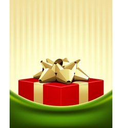 christmas red box background vector image vector image