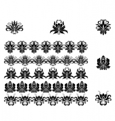 flower patterns and borders vector image