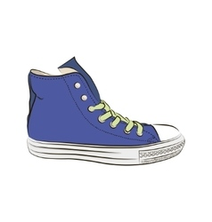 Hand drawn sneakers gym shoes Keds vector image vector image