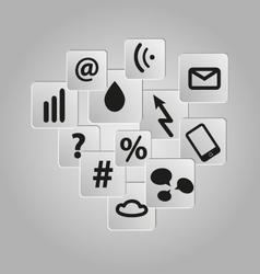 Icons background set telecommunication vector